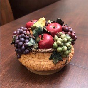Fruit Basket Candle Jar Topper